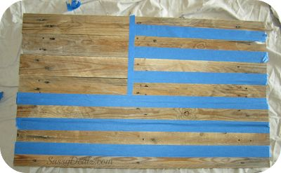 DIY: How To Make an American Flag out of a Wood Pallet (Step by Step Tutorial w/ Pictures) - Crafty Morning