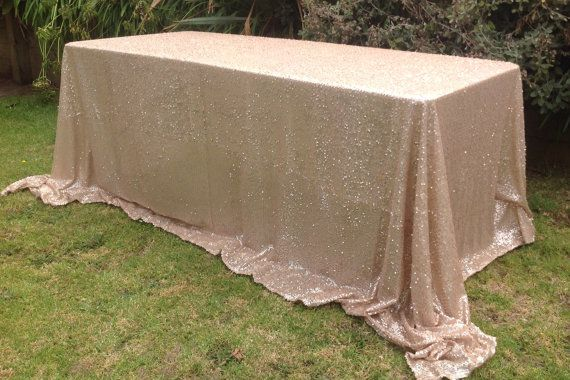 Sequin Table Cloth  to fit 6ft Trestle Table... by CreativePapier, $150.00
