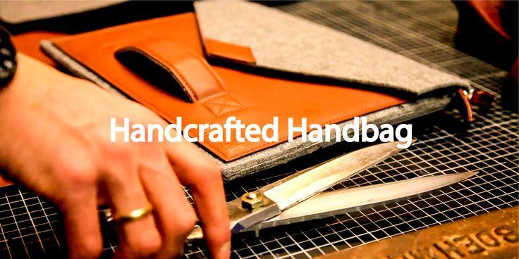 Handcrafted Handbag - Sella Ferox Businesstasche Filz Hülle Herrentasche Cognac Braun trolley arbeitstasche ledertasche Netbook macbook air pro 13 zoll
