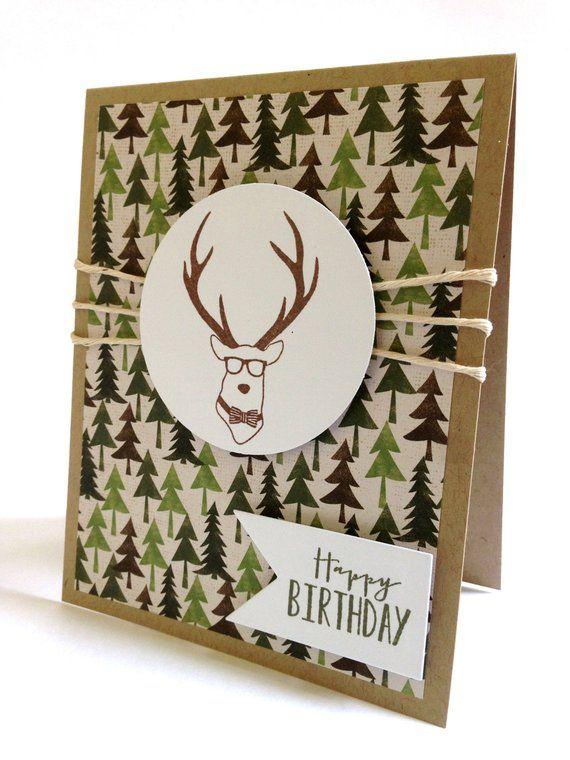 Deer Birthday Card Birthday Card For Dad Hunting Card Etsy Dad Birthday Card Birthday Cards For Him Birthday Cards