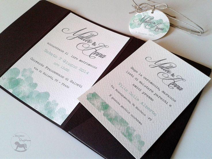Wedding Invitation - Mint&Chocolate