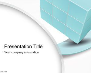 Free 3D Cube for PowerPoint presentations #cube #PowerPoint #3d