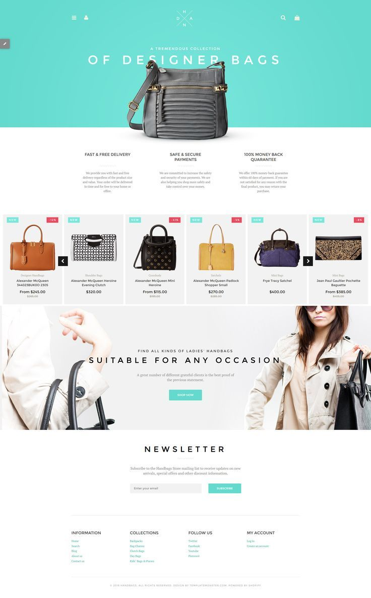 Handbag Boutique Ify Theme Web Design