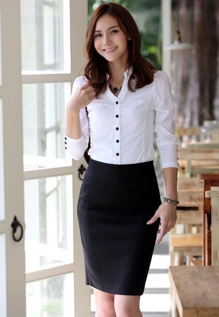 White Elegant Gathered Long Sleeves Asian Fashion Classic Shirt