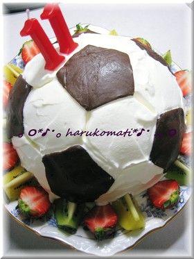 サッカーボールケーキ