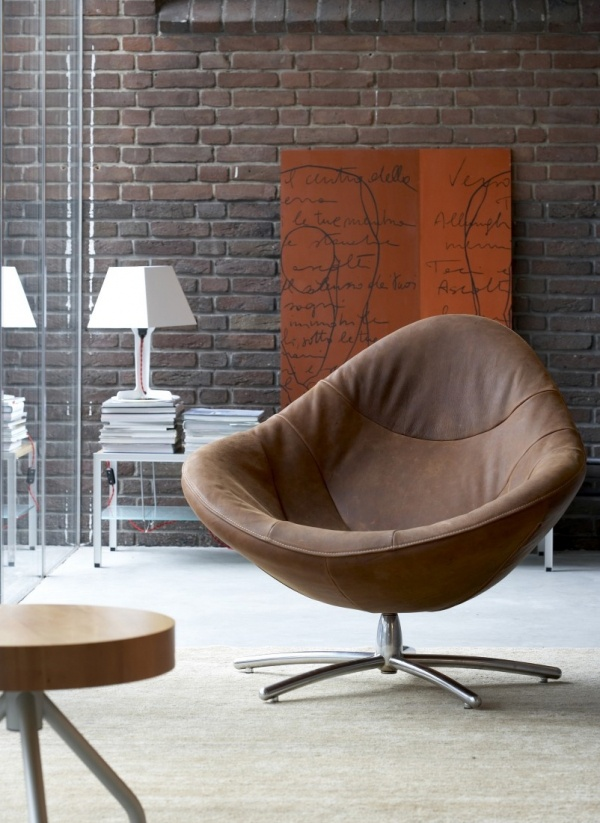 Meer dan 1000 idee n over bruine woonkamers op pinterest for Bruine leren stoel