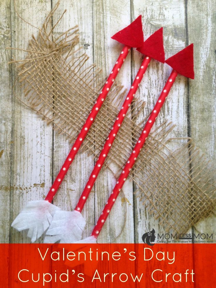 DIY Valentine's Day Cupid's Arrow craft, just in time for the season! This Kids Valentines day craft is easy to make and costs little for supplies