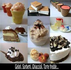 raccolta gelati e sorbetti