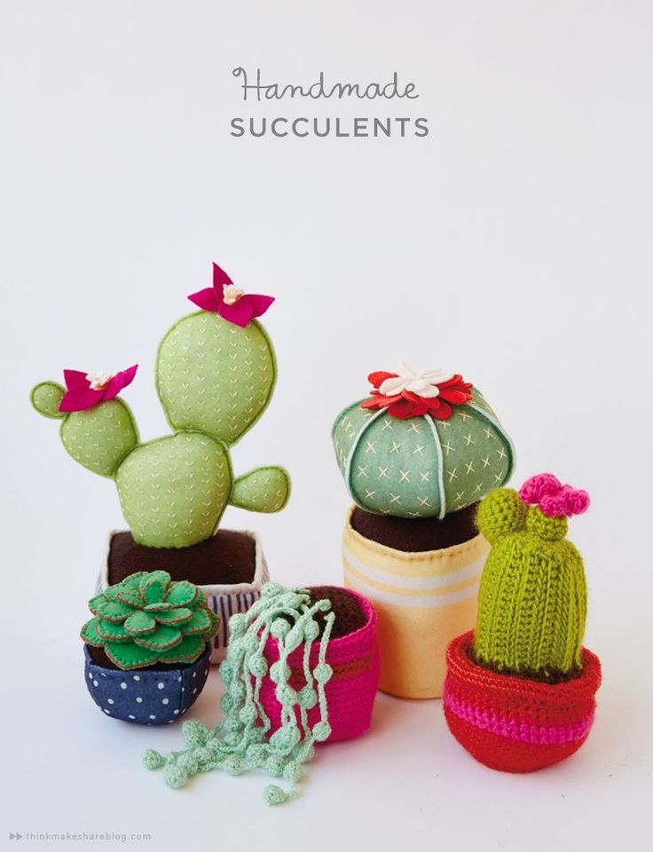 handmade succulents (for people without green thumbs)