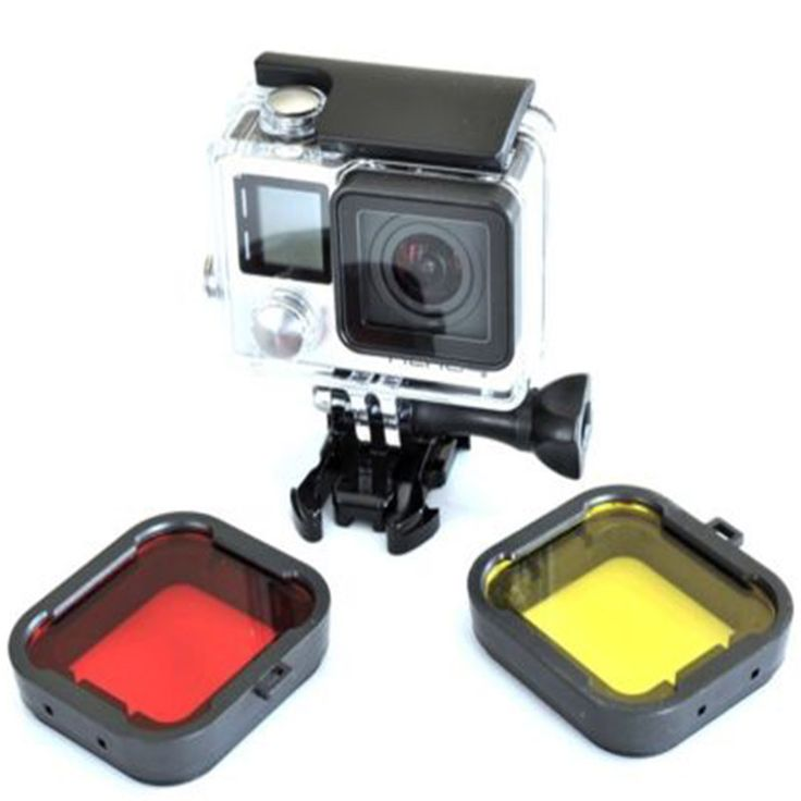 Free shipping tracking number 4pcs lot Lens Filter Diving Filter Gopro HERO 3 4 Camera Housing. Click visit to buy #lenses #accessories