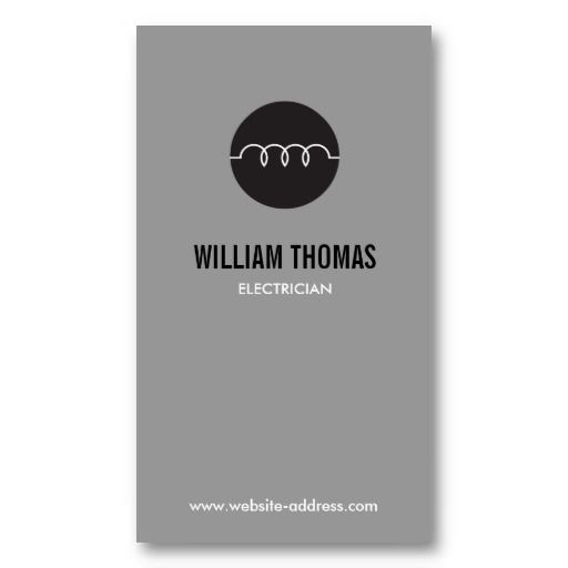 MODERN ELECTRICIAN LOGO On GRAY Business Card