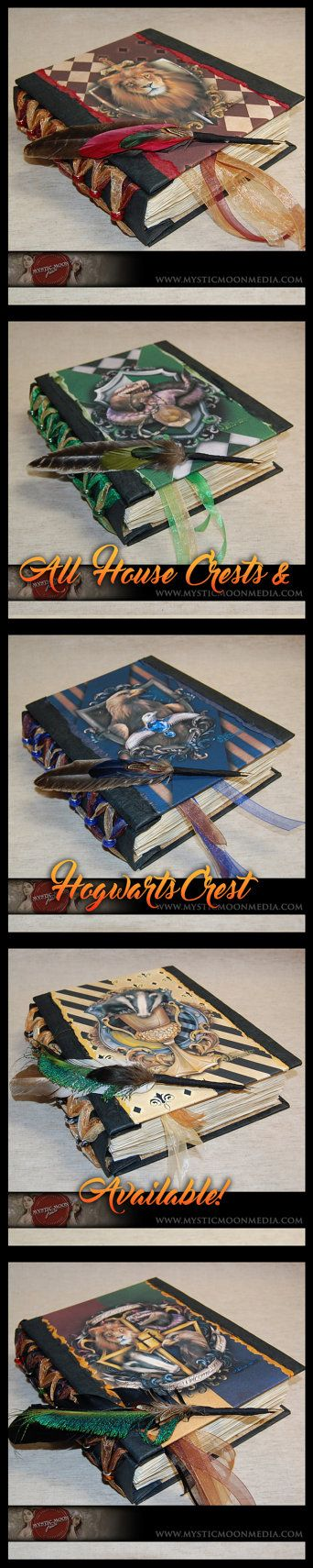 Bravery - Gryffindor Inspired Handmade XL Journal With Red Glass Beads...Quill…