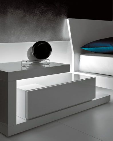 nightstand with light