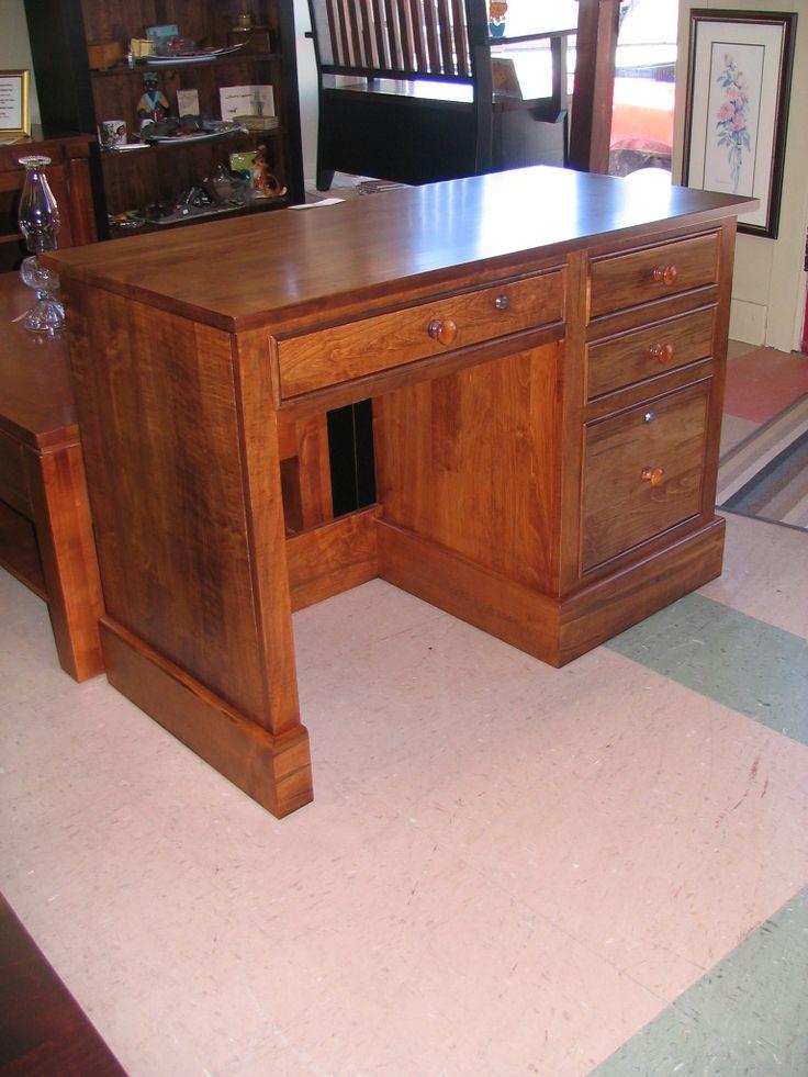 Wormy Maple Desk With Hazelnut Finish