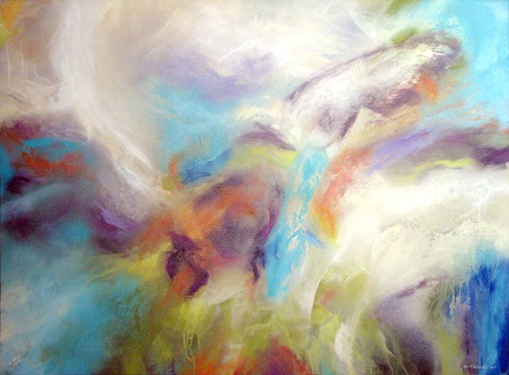 """Memories of the Sea - Spray paint - 30x40""""  painting, abstract, contemporary, expressionism, acrylic, spray paint"""