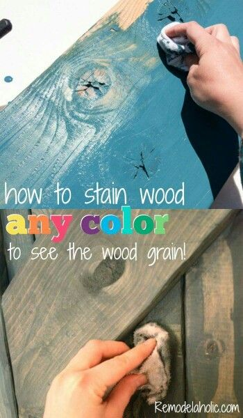 Color staining wood