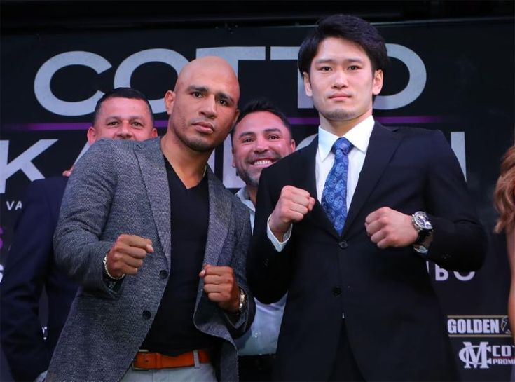 MIGUEL COTTO VS. YOSHIHIRO KAMEGAI LOS ANGELES PRESS CONFERENCE QUOTES, PHOTOS AND VIDEO  COTTO VS. KAMEGAI IS SATURDAY, AUGUST 26 AT STUBHUB CENTER PRESENTED LIVE BY HBO WORLD CHAMPIONSHIP BOXING®  (L-R, Miguel Cotto and Yoshihiro Kamegai pose during a press conference on May 31to promote their 12-round fight for the vacant WBO Junior …