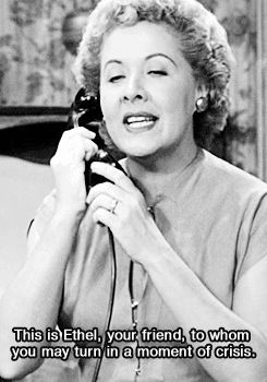 """I can hear Ethel's voice just looking at this! Love this episode, """"Lucy gets a black eye"""" :P"""