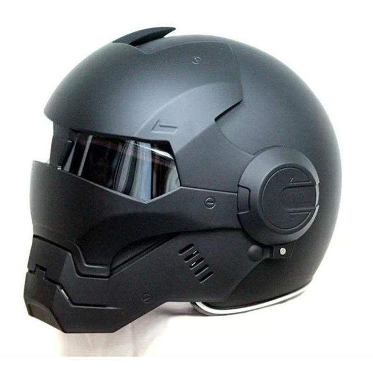 Buy Wallmart.win 2016 Top hot Black MASEI IRONMAN Iron Man helmet motorcycle helmet half helmet open face helmet casque motocross 610…