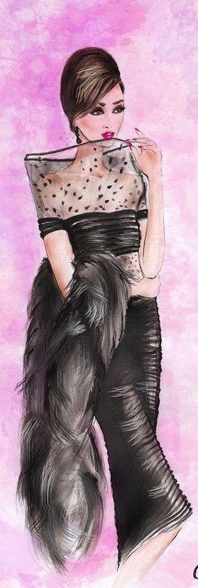 Fashion illustration by Olivia Elery