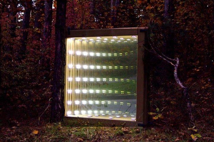 Infinity mirror by Robertas Balčiūnas Beepart light festival, 2015, Vilnius