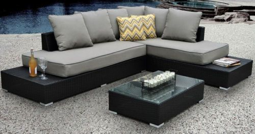 Patio Furniture Set Outdoor Modern Contemporary Sectional Lounge Pool Garden | eBay