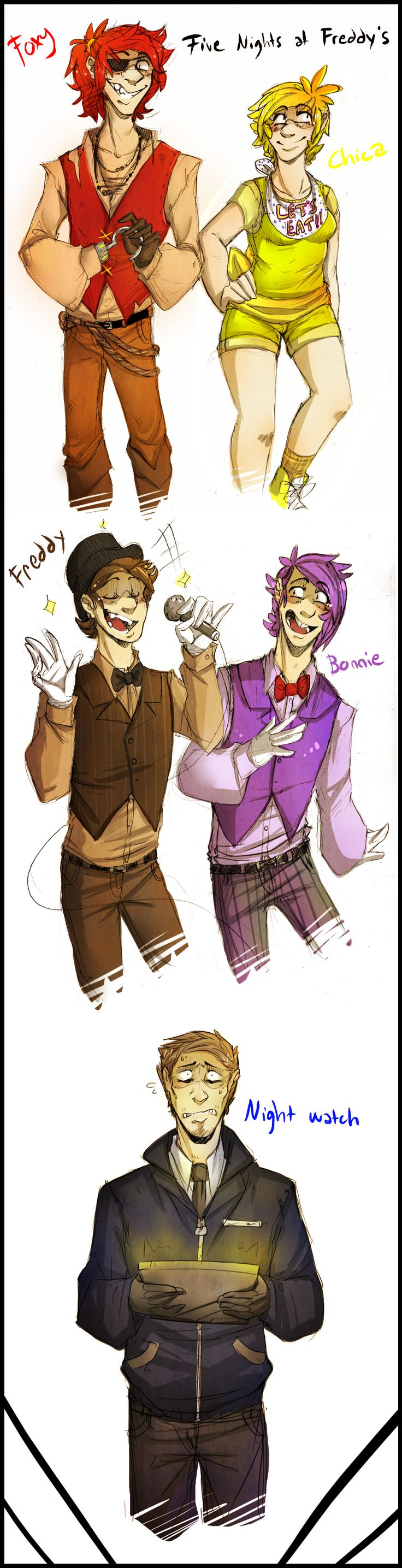 Five nights at freddy s humanized by blasticheart deviantart com on