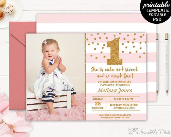 Best Birthday Invitation Templates Images On Pinterest - Birthday invitation templates for first birthday