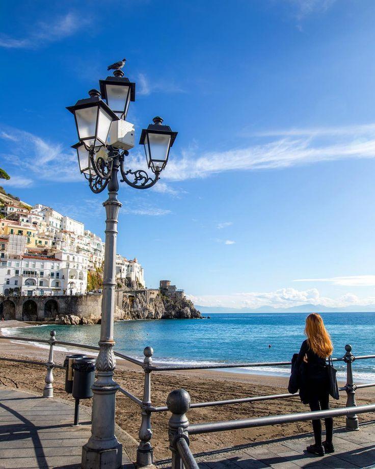 At the coast of Amalfi Italy