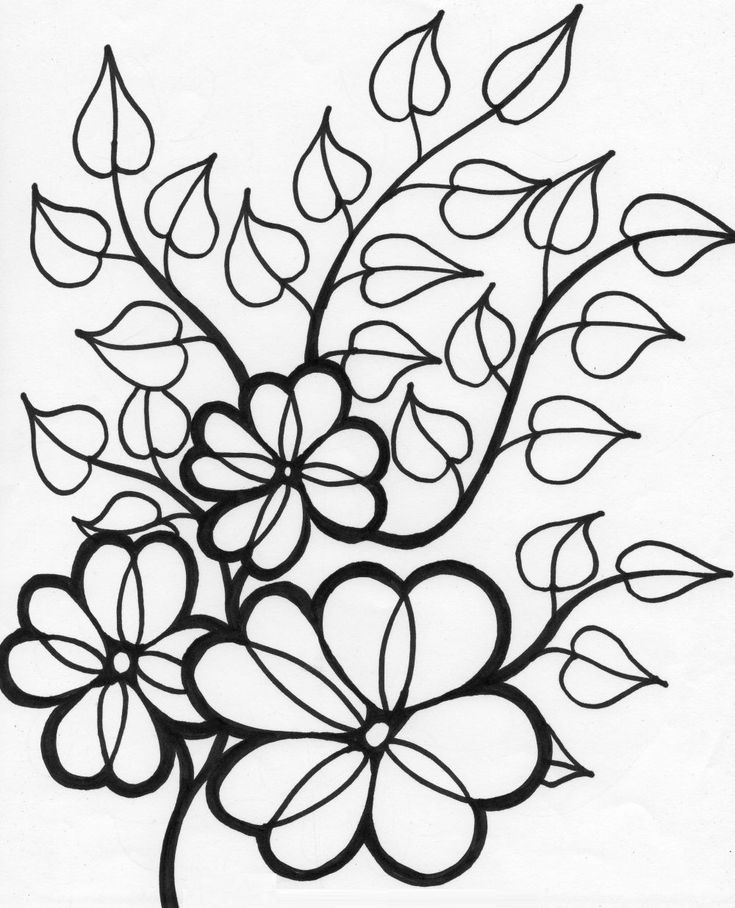 Canny image within free printable flower coloring pages