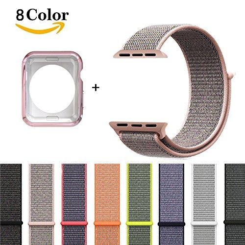 For Apple Watch BandNew Nylon Sport Loop for Apple Watch Series 3/2/1 (Pink Sand 42mm)
