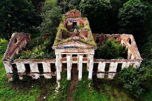 Mansion ruins by SkyCam