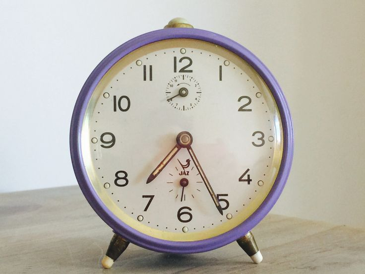 Jaz alarm clock - purple (mauve)