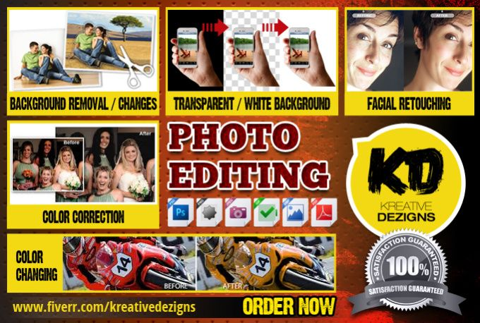 retouch your photos or do any photo editing work by kreativedezigns
