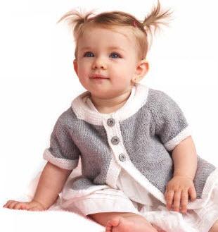 Bernat® Softee® Baby Top Down Cardigan #knit #pattern