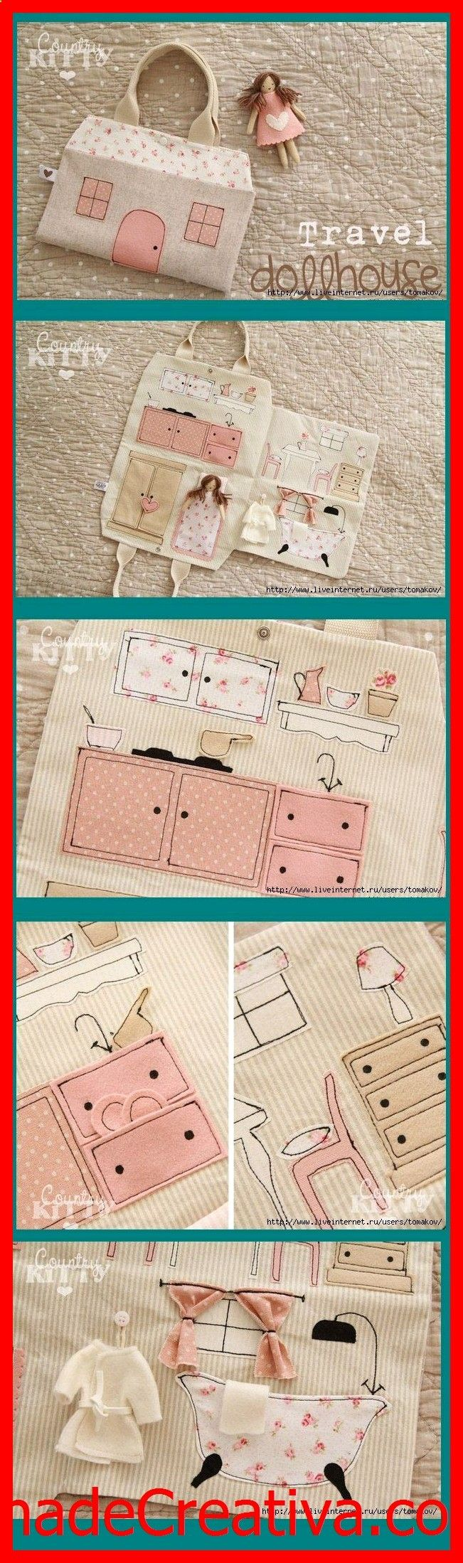 KhadeCreativa.com Travel doll house. Evie will love it when she getsnbigger. source by :http://pinterest.com/pin/451485931372946021/