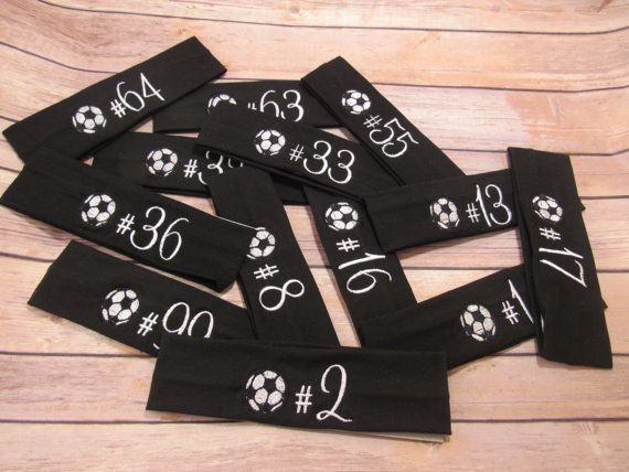 Personalized Soccer Team Gifts Soccer Team Headbands by NoraTones