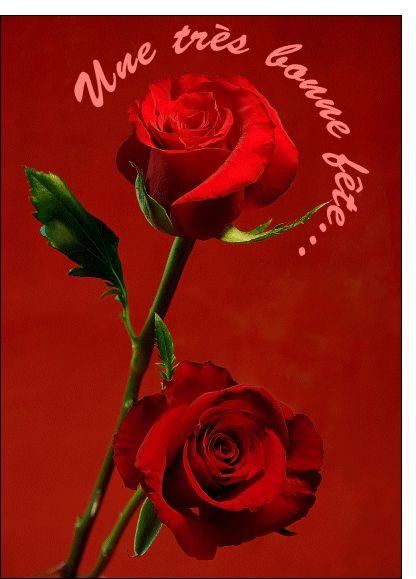Carte Rose une tres bonne fete pour envoyer par La Poste, sur Merci-Facteur !