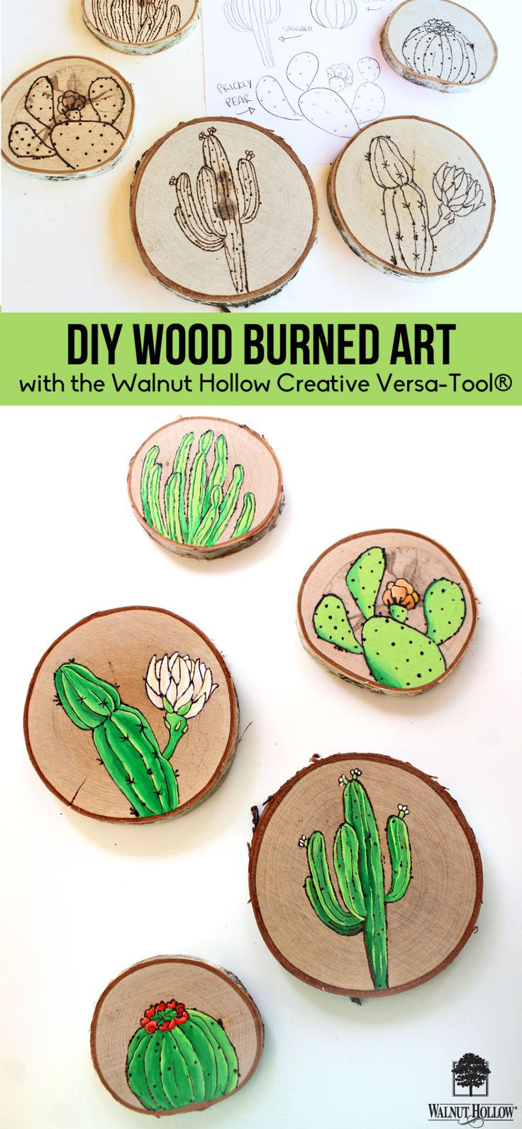 Wood Burning Illustrations with the Creative Versa Tool | walnuthollowcrafts