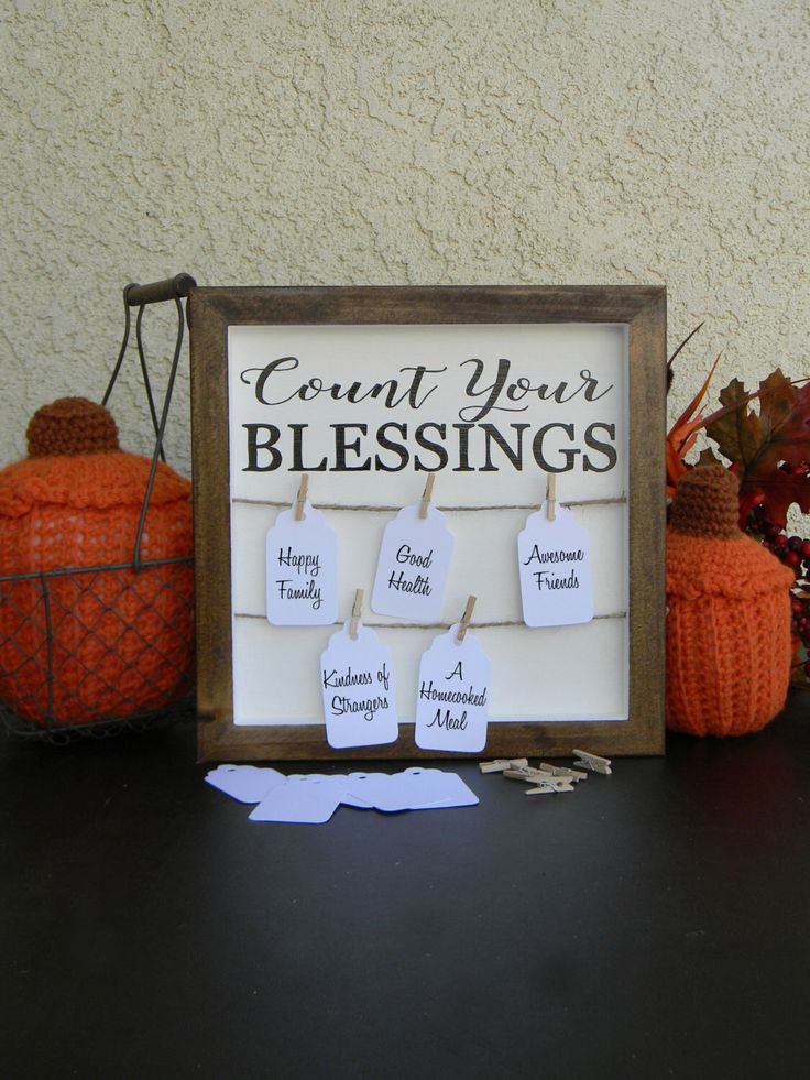 Count Your Blessings Sign Fall Decor Sign Thankful For Blessings Thanksgiving Sign Gratitude Sign Farmhouse Style Signs For Home Rustic Wood by justforkeeps on Etsy https://www.etsy.com/listing/473582353/count-your-blessings-sign-fall-decor