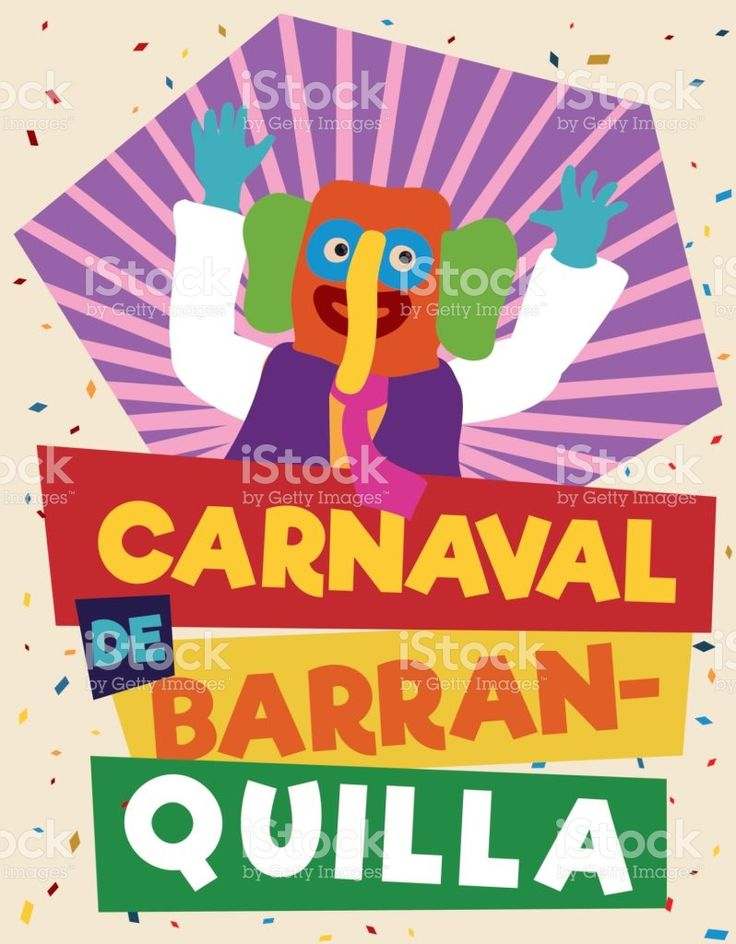 Colorful and Festive Promotional Poster with Marimonda for Barranquilla's Carnival
