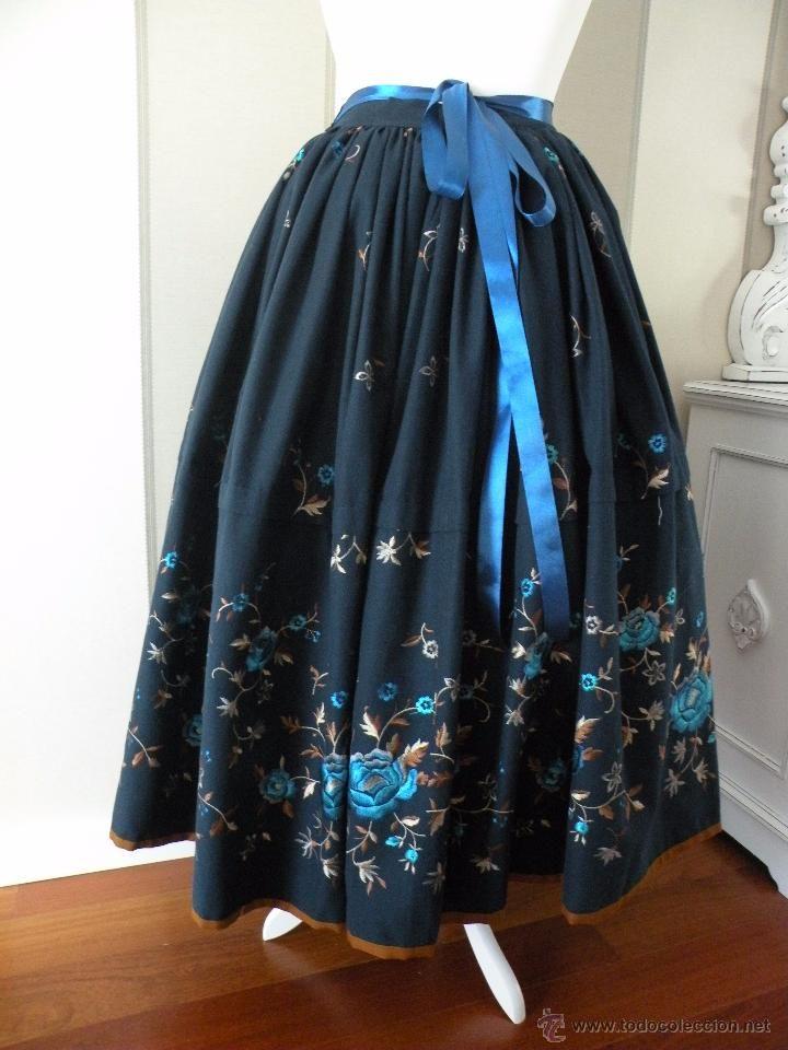 falda para traje regional