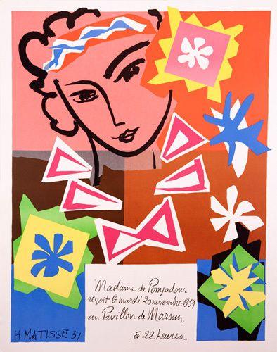 Madame de Pompadour au Pavillon de Marsan, 1951 by Henri Matisse