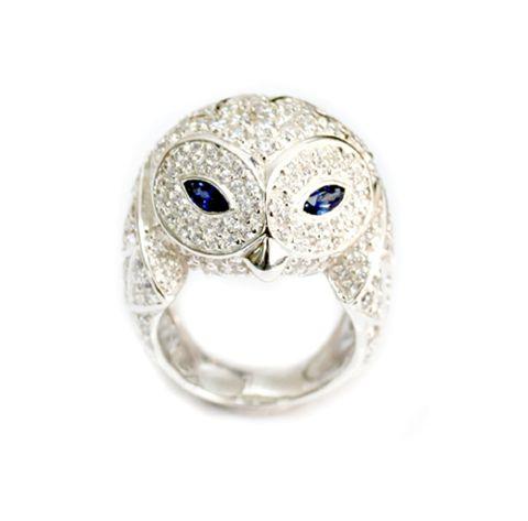 BUBO - SNOWY OWL Ring by MR-GEMS & JEWELLERY