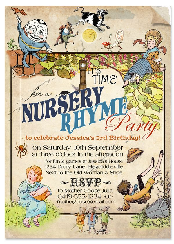 21 best Nursery Rhyme Party Fun images on Pinterest | Children songs ...