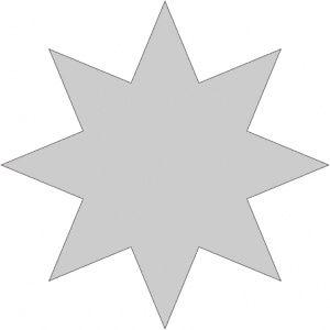 Vyřezávací šablona - Hvězda 4