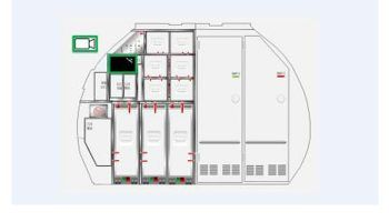 """Lufthansa Technik AG and Diehl Aerosystems are introducing an entirely new development in cabin monuments for the Airbus A320 family called """"High-Density Solution""""."""
