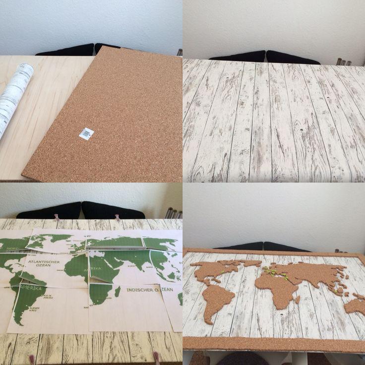 25 parasta ideaa pinterestiss weltkarte pinnwand. Black Bedroom Furniture Sets. Home Design Ideas