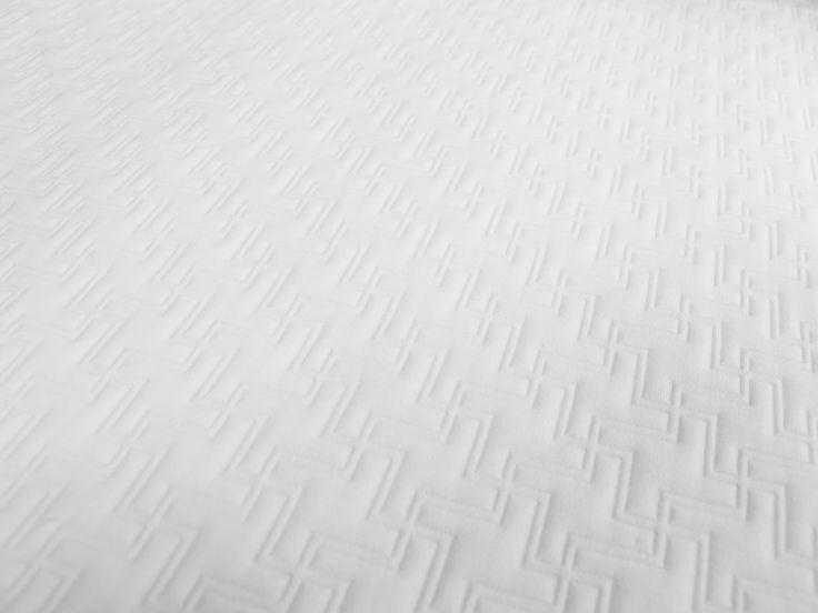 Aquamarine White, Winner Best Hospitality Textile, Interior Design Best of Year Awards 2013, part of the Touché Matelassé Collection from  #FabricInnovations #hospitality #bedding #design #BestHospitalityTextile #2013