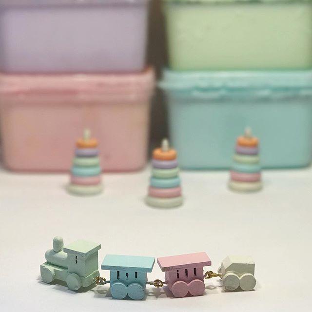 Miniature Pastel train♡ ♡